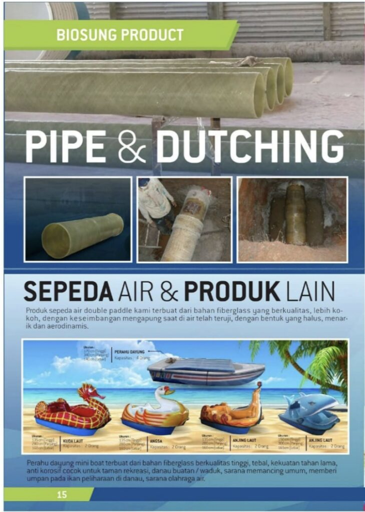 Brosur Pipe & Dutching, Sepeda Air Biogreen